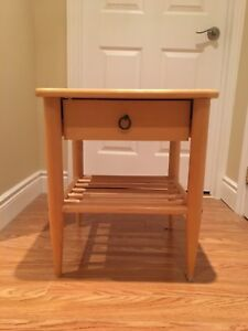 Wooden IKEA side table