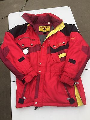 Nevica Ski Snow Winter Jacket Size 38 Skiing Red Long Recco Coat Snowmobile
