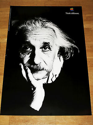 APPLE THINK DIFFERENT POSTER - ALBERT EINSTEIN  24 x 36 by STEVE JOBS 61 x 91 CM