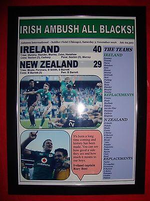 Ireland 40 New Zealand 29 - 2016 Autumn International - framed print