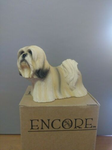 ENCORE LHASA DOG Figurine Statue  Resin 52230 hand-painted LIVING STONE