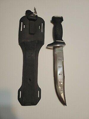 Vintage Sun Fish Stainless Steel Scuba Knife With Original Sheath