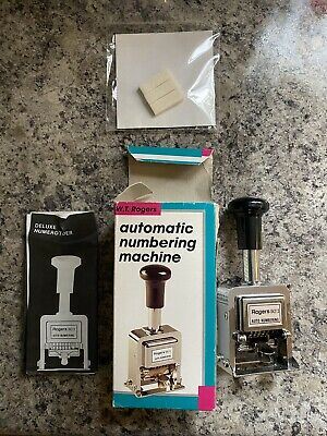 Wt Rogers Automatic Numbering Machine With Ink Pads