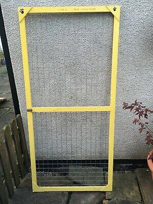 Wooden Aviary Cage Door Panel + Wire Mesh Poultry Run Chicken Rabbit Dog Bird 1