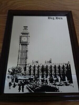 vintage london big ben mirror