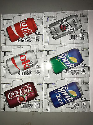 Pick 20 Flavor Tab Strips Big Label Coke Pepsi Soda Vending Machine Vendo Dixie