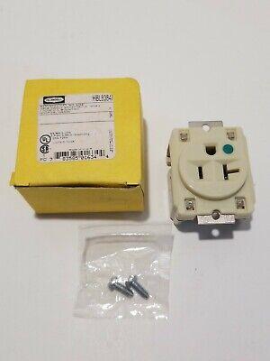 Hubbell Hbl8384i 20amp 125v Hospital Grade Single Outlet Panel Mount C-c Ivory