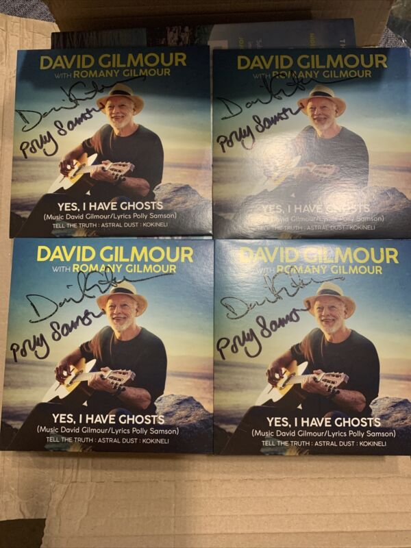David Gilmour & Polly Samson Signed YES, I HAVE GHOSTS CD + Book - Pink Floyd
