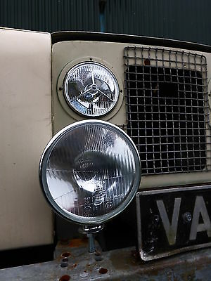 Landrover Series 1 2 3 Complete Head Light/Lamp 7 Inch Driving Light, Rim & Loom