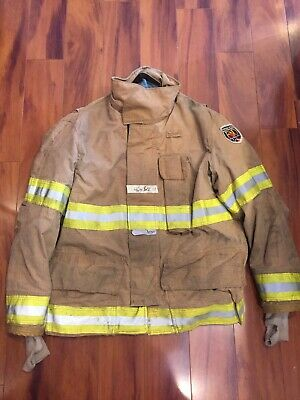 Fire Dex Firefighter Turnout Bunker Coat 46x32 2007 No Cut Out Guc