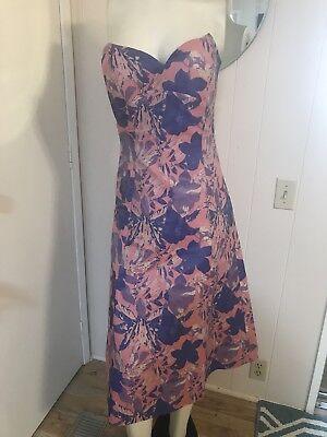 Aussie Designer Elliatt GORGEOUS Strapless Pink/Purple Brocade A-Line Dress Sz S](Brocade Dress Designs)