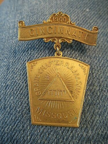 Grand Chapter Royal Arch Masons Of Missouri Gathering In Cincinnati 1900 Medal