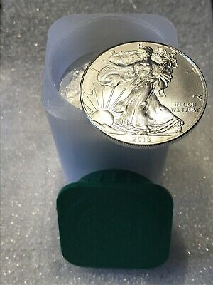 2013 American Eagle Silver Dollar Roll (20) Coins BU in mint tube