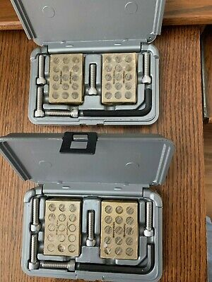 Browne Sharpe Precision 1-2-3 Blocks  2 Complete Sets With Cases 599-750-10