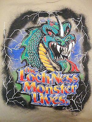 Vintage Lochness Loch Ness Monster Busch Gardens Myth Legend Lighting T Shirt M