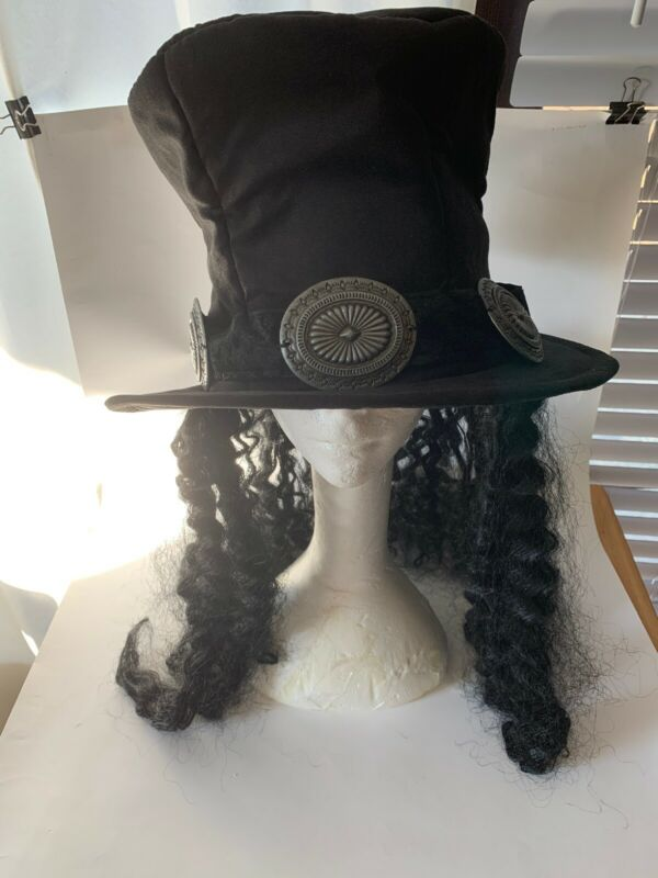 Hat With Hair Costume / Dress-up / Halloween / Rock Star.  (B2)
