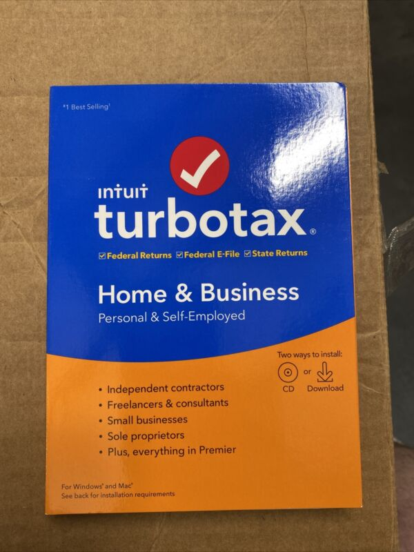 Intuit Turbo Tax Home & Business 2019. BRAND NEW. FREE USA SHIPPING