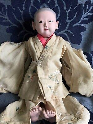 Japanese MEIJI ERA Antique Ichimatsu Daki Ningyo  Gofun Doll