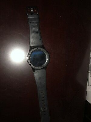 Samsung Galaxy Gear S3 frontier 46mm Stainless Steel Case Black Sport Band -... for sale  Shipping to Canada