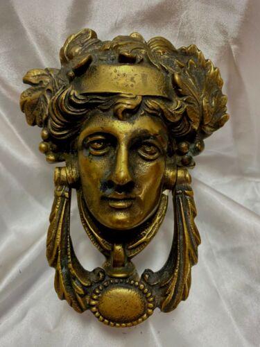 Antique Large Bronze Door Knocker FREE SHIPPING athena diana mythology goddess