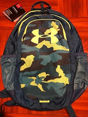 NEW Under Armour Scrimmage Storm Backpack Teal Rush Camo Water Repl New