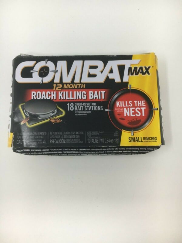 """New - Sealed"" - Combat Max 12 Month Roach Killing Bait"