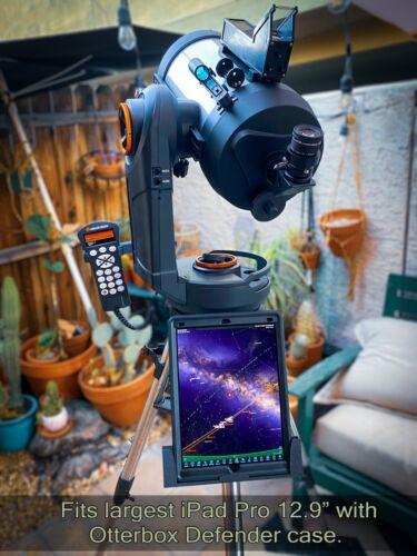 "Telescope iPad Mount. For Celestron 8se, 6se, 5se, 4se, Evolution 8"", 6"""