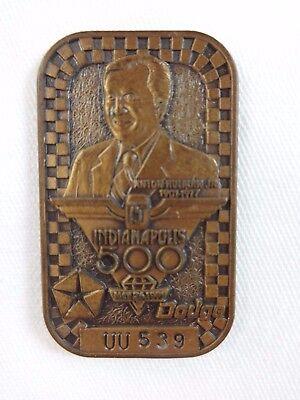 1991 Indianapolis 500 UU539 Bronze Pit Badge Rick Mears 4x Marlboro Team Penske