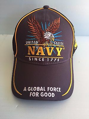US NAVY BALL CAP  by CAPSMITH (GLOBAL FORCE / EAGLE DESIGN) BIN 3