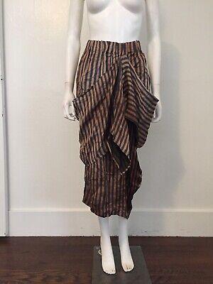 UMA WANG 2016 striped asymmetric draping skirt artisanal designer harnden dawson