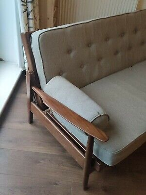 Midcentury Sofa Bed Day Bed Vintage Teak