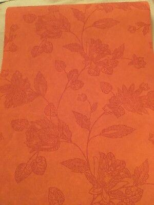 Orange Jacobean Flower wallpaper(has matching Orange (Orange Flower Wallpaper)