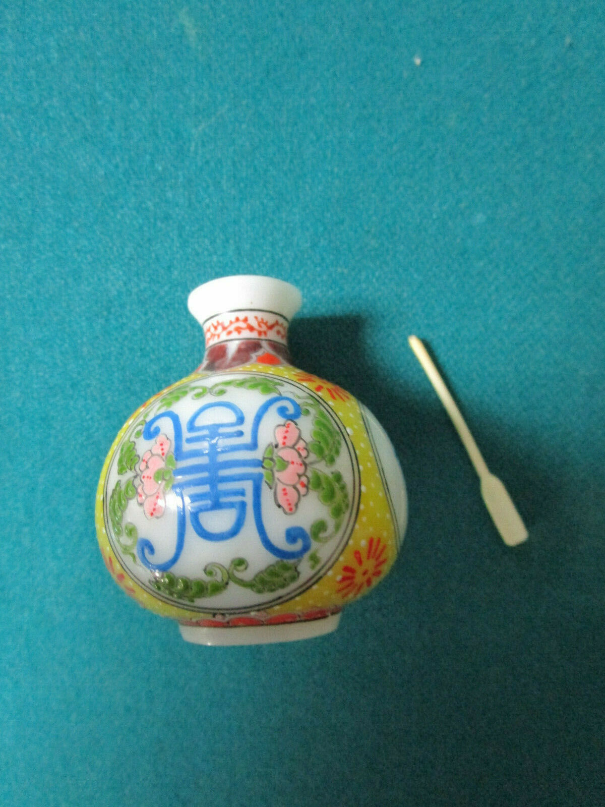 Antique Chinese Silver Enamel Swing Out Trinket Box Tap