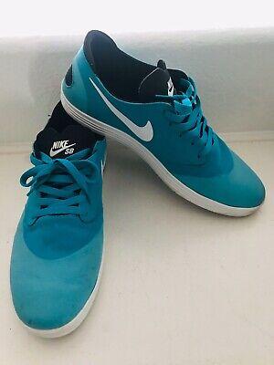 Nike SB Lunar Oneshot Skate Board Athletic Shoes For Men's Size 12 Color Aqua