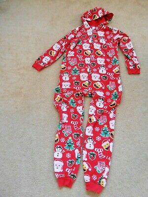 Unisex Kids Christmas One Piece Jumper Pajama or Lounge wear Size 14
