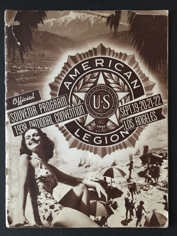Vintage US 1938 American Legion Official National Convention Program Booklet
