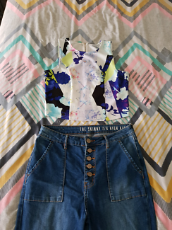 Jeans + crop top $15 for both or $5 each