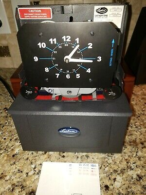 Lathem 4001 Punch Electric Business Time Clock Wkey 2 Ribbons