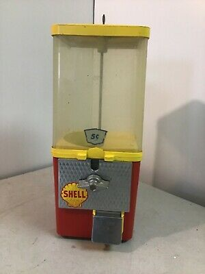 Vintage Komet 5 Cent Gumball Peanut Candy Machine Advertisement Store Display