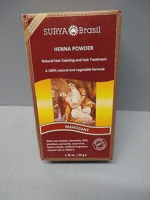 2 Pack Surya Brasil Henna Powder Hair Coloring Mahogany  Surya Henna Powder