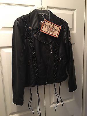 NEW! Women's Harley Davidson Leather Jacket Size Medium