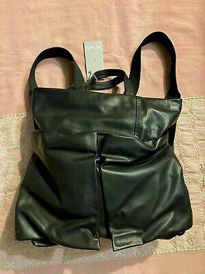 Ally Capellino UK Designer Black Leather Backpack Rucksack Purse Bag