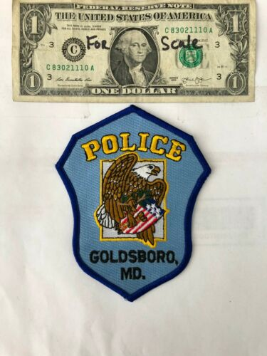 Rare Goldsboro Maryland Police Patch  un-sewn Great shape (hard to Find)