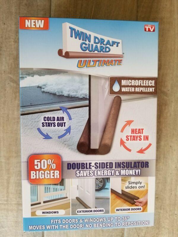 Twin Draft Door Guard Ultimate As Seen On TV Draft Guard Durable Microfleece