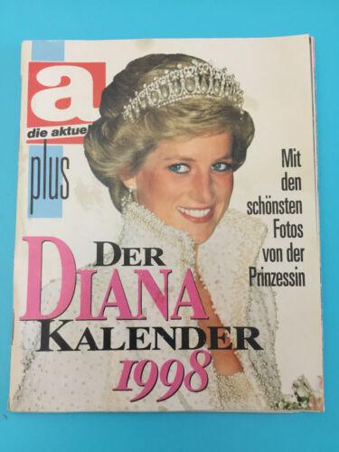 "Princess Diana International Calendar Kalender 1998 small 4.5"" x 5.5"" w/ photos"