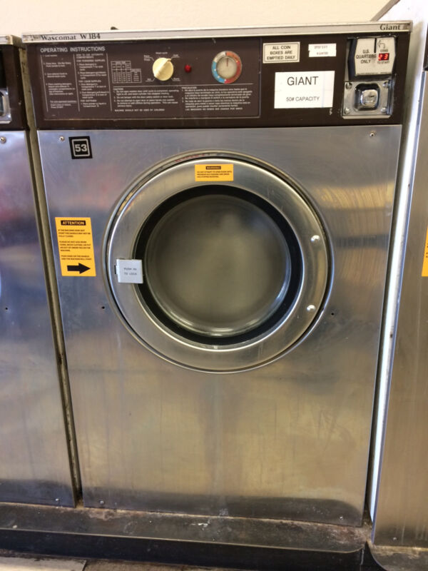 WASCOMAT 50lb GIANT washer W184 STAINLESS STEEL