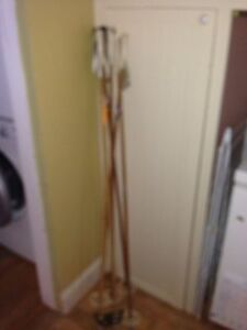 Vintage cross country bamboo ski poles