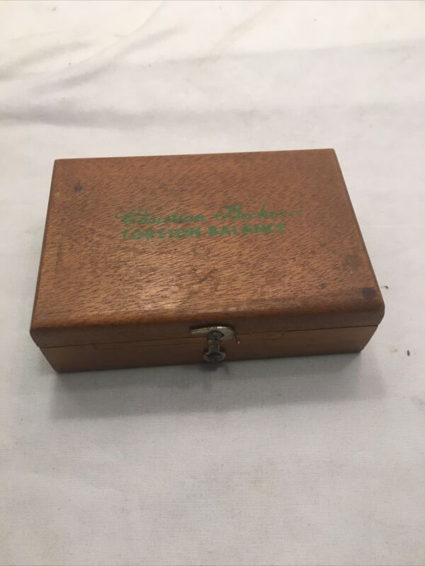 Christian Becker Torsion Balance Gram & Dram Weight Set in Wooden Case