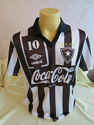 Botafogo Football Shirt Home 1990 1991 Player Issue maybe worn match L RARE 10 image