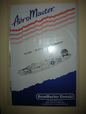 Aero Master Model Kit Decals 72-020 B-24 Liberators Galore S 4